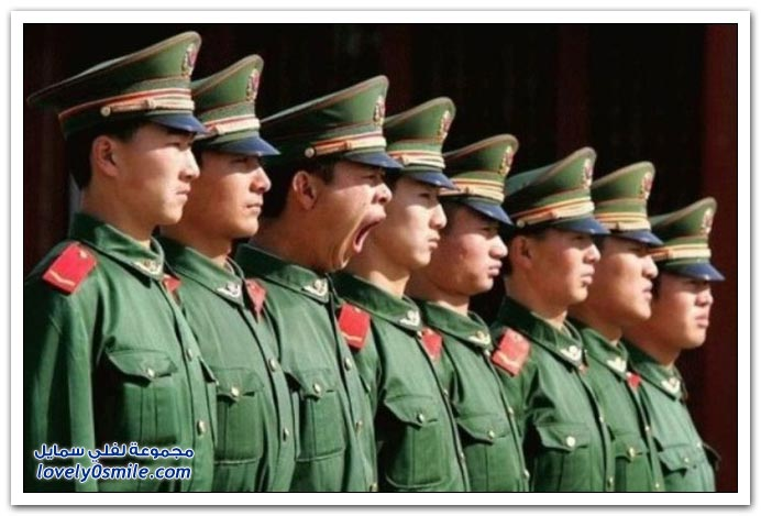 أحد التدريبات العسكرية في الصين