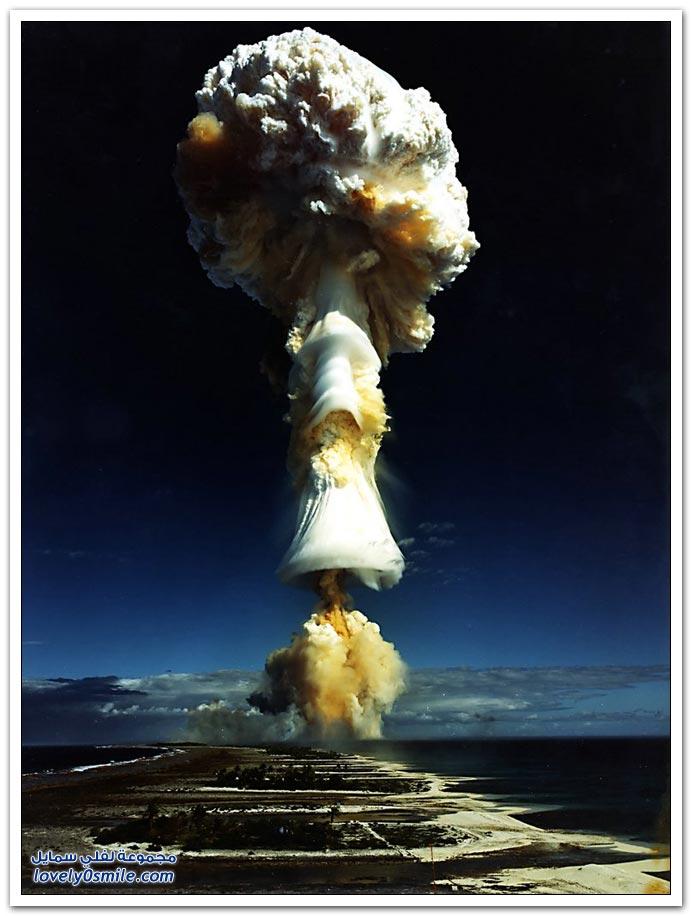 صور انفجار قنبلة نووية