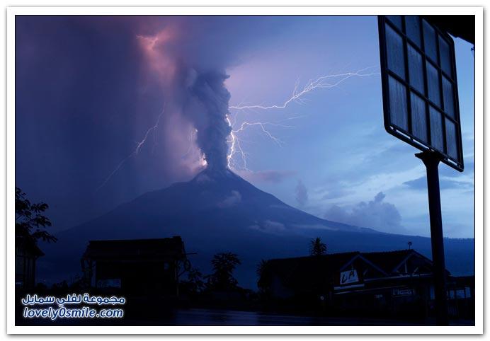 صور بركان ميرابي في أندونيسيا