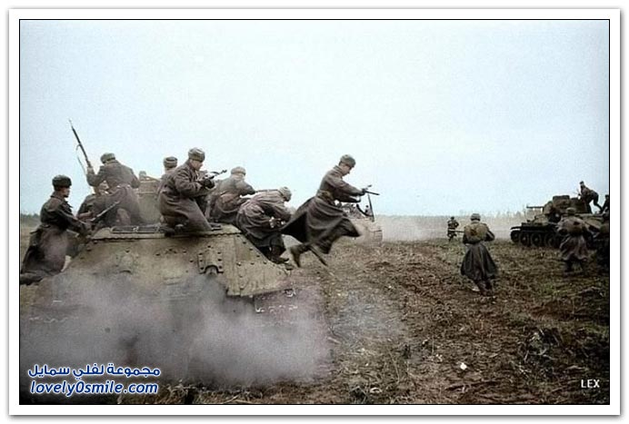 بالألوان صور من الحرب العالمية الثاني ج1