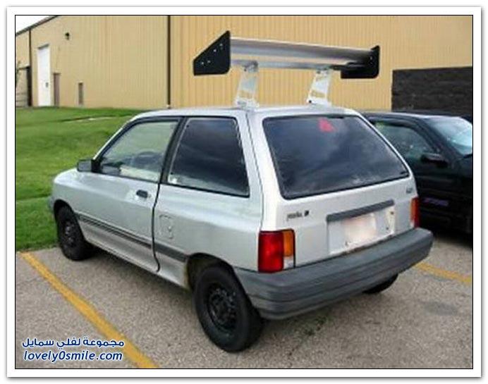 بعض الناس ياحبهم لأجنحة السيارات