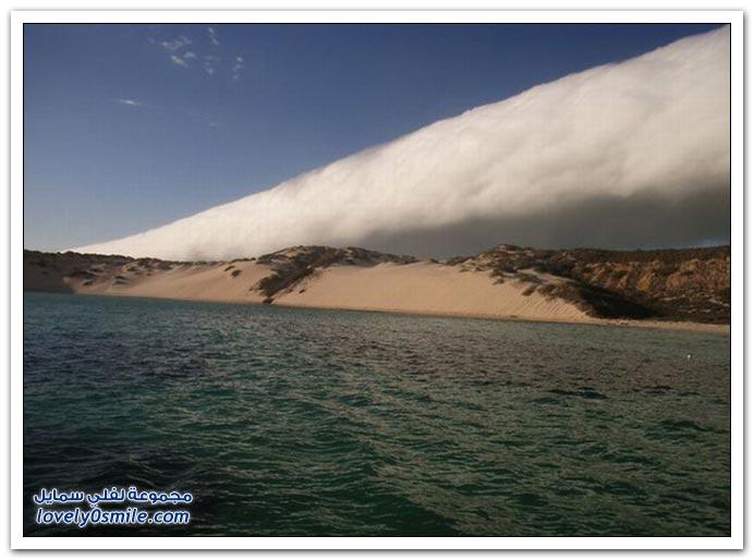 سحب عجيبة من سواحل استراليا