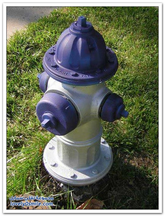 رسومات وأشكال صنابير مياه الإطفاء