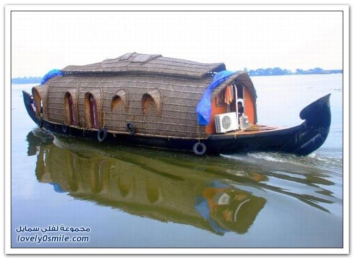 صور قوارب الرحلات النهرية في الهند