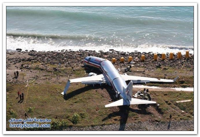 انحرفت طائرة الخطوط الجوية الأمريكية عن المدرج في مطار جامايكا