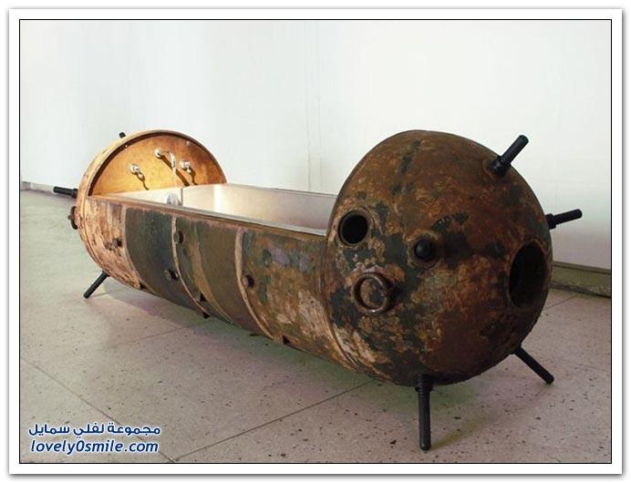صور أثاث مصنوع من الألغام البحرية في روسيا