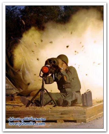صور الثواني الأولى من إطلاق القنابل والصواريخ