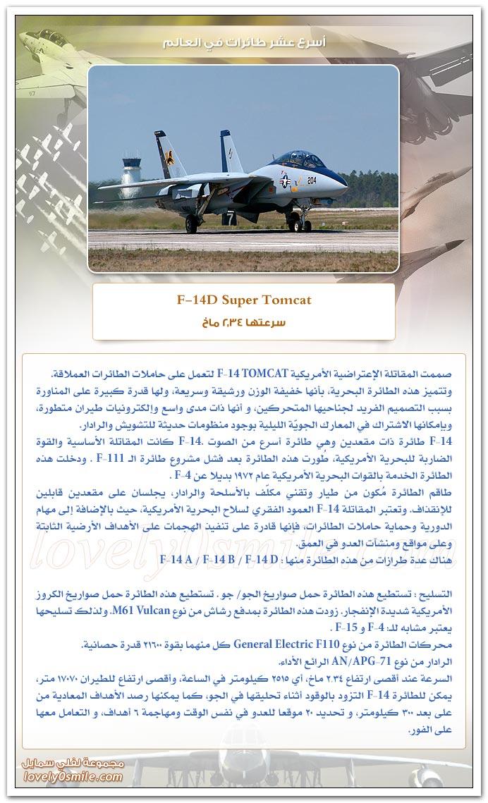 أسرع عشر طائرات في العالم