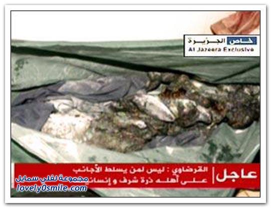 القذافي يحرق ليبيا وشعبها 044