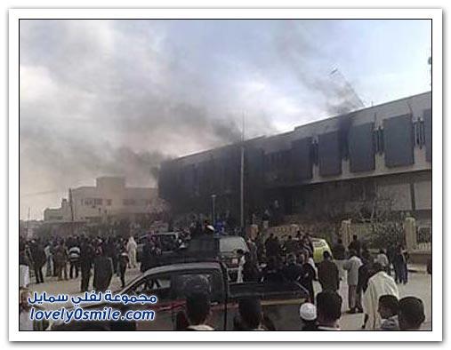 القذافي يحرق ليبيا وشعبها 045