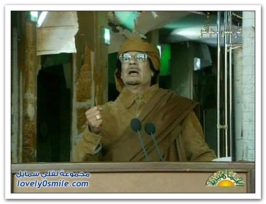 القذافي يحرق ليبيا وشعبها 046