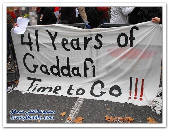 القذافي يحرق ليبيا وشعبها 049