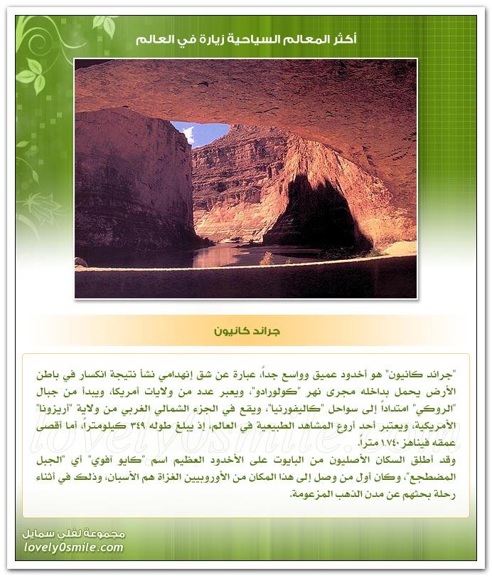 أكثر المعالم السياحية زيارة في العالم