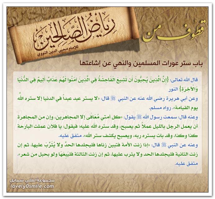 ستر عورات المسلمين والنهي عن إشاعتها + قضاء حوائج المسلمين