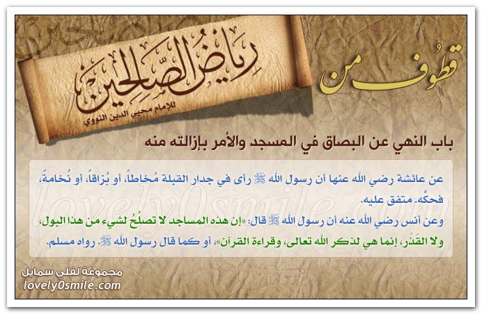 كراهة تعليق الجرس في الدواب + كراهة الخصومة في المسجد ورفع الصوت ونشد الضالة