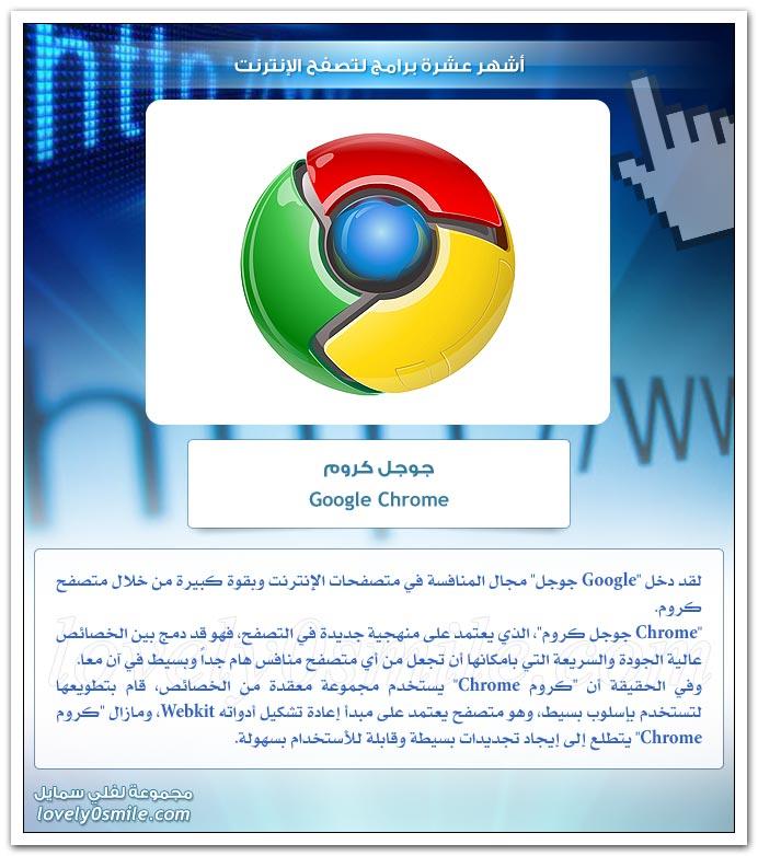 أشهر عشرة برامج لتصفح الإنترنت
