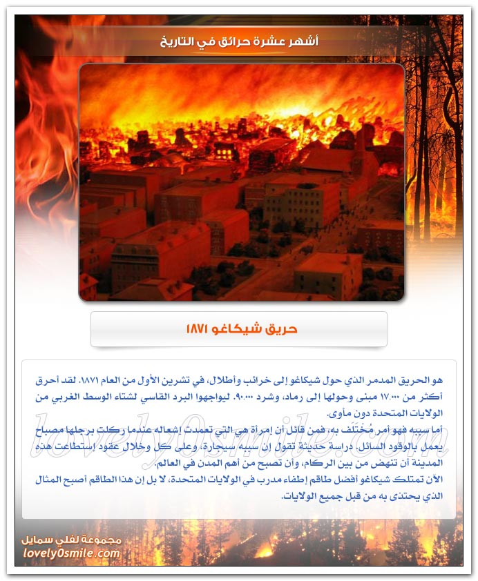 أشهر عشرة حرائق في التاريخ
