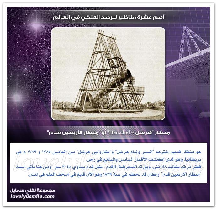 أهم عشرة مناظير للرصد الفلكي في العالمم