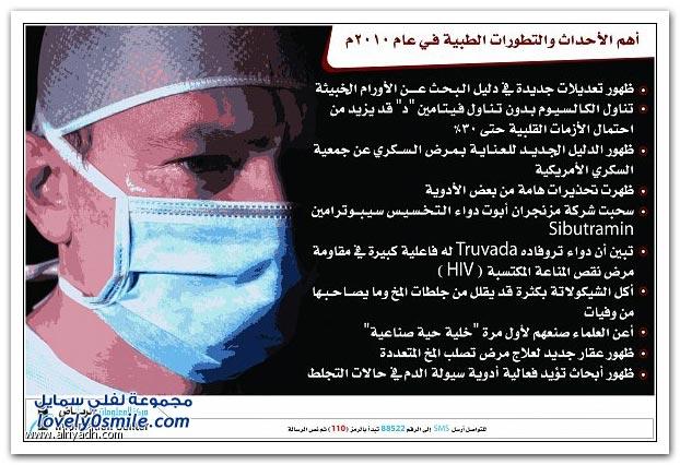 أهم الأحداث والتطورات الطبية التي حدثت في عام ٢٠١٠م