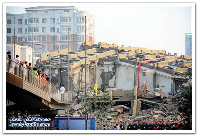 هدم بناية في الصين