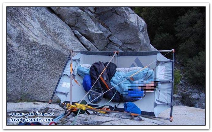 النوم على سفوح الجبال
