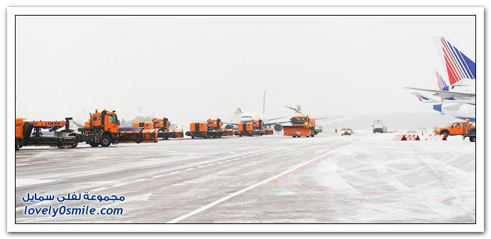 إذابة الجليد من على الطائرات