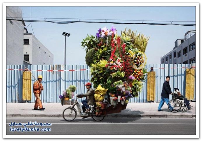 فن حمل الأمتعة الثقيلة على الدراجات