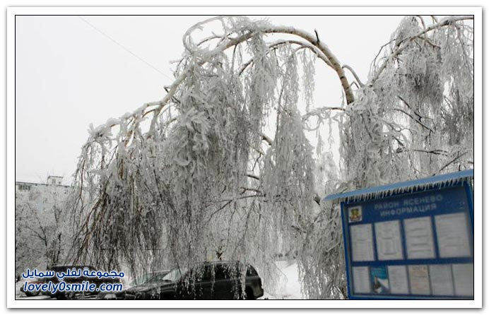صور الثلوج في موسكو