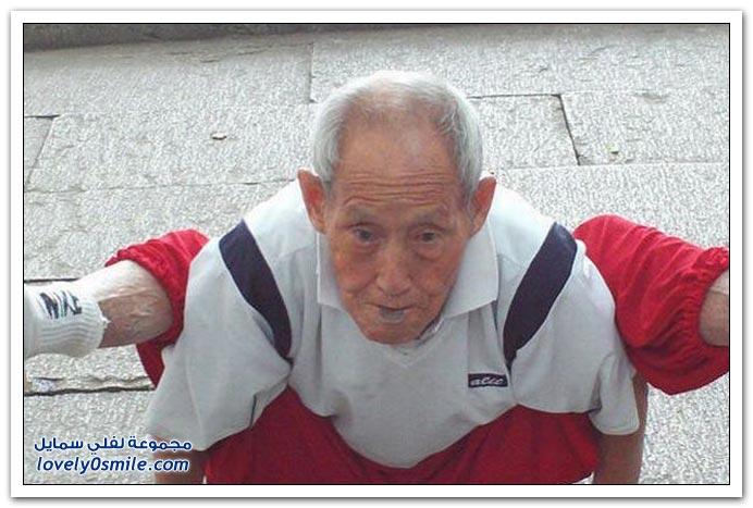 عمره 91 سنة ولياقته أحسن شبابنا اليوم