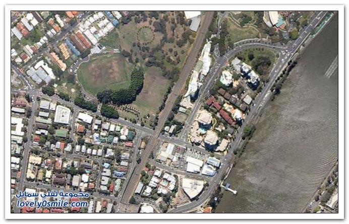 فيضانات بريسبان في أستراليا قبل وبعد