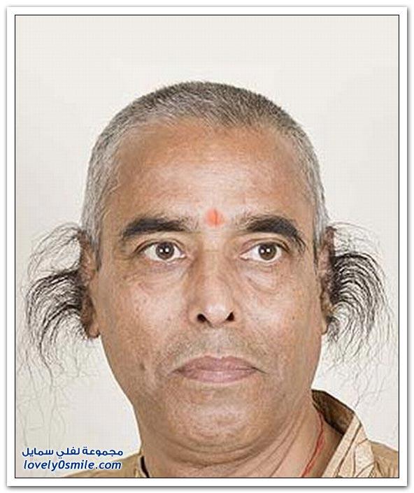 أطول شعر أذن في العالم