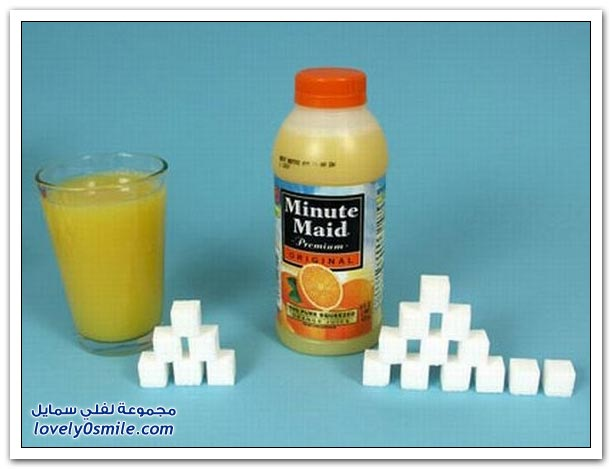 مقدار السكر في بعض الأطعمة والمشروبات