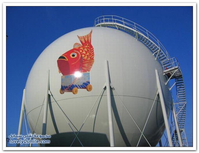 تزيين خزانات الغاز في اليابان