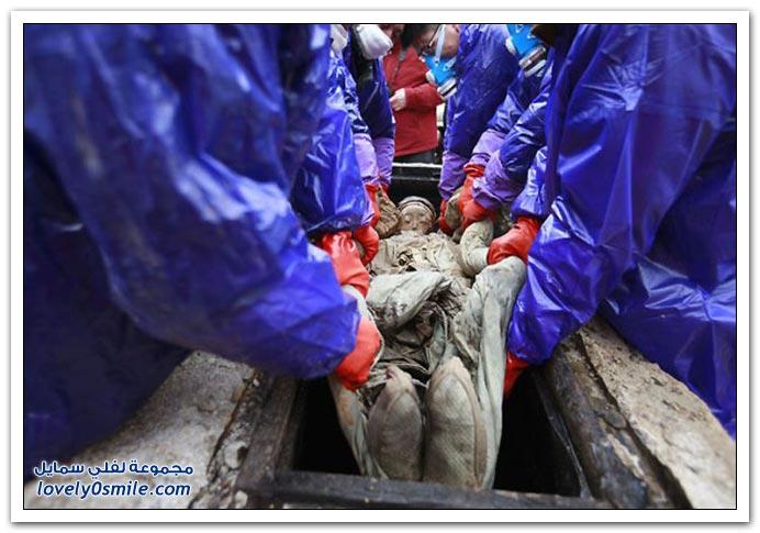 العثور على مومياء عمرها 700 عام في الصين