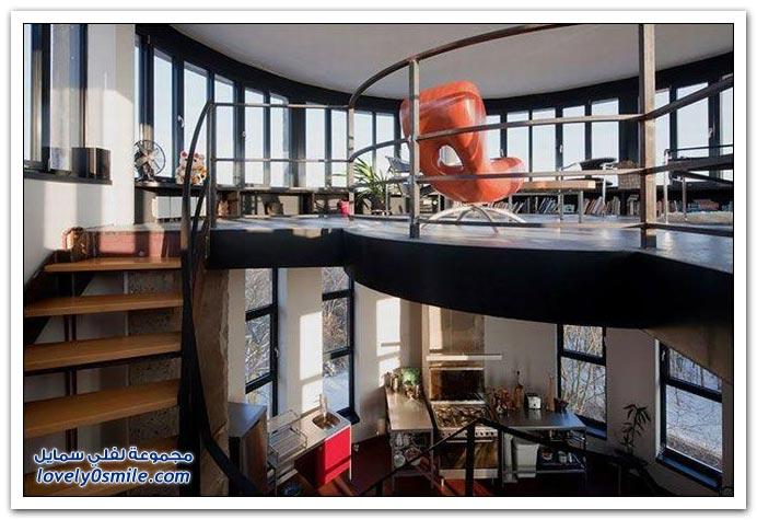 منزل داخل برج مياه