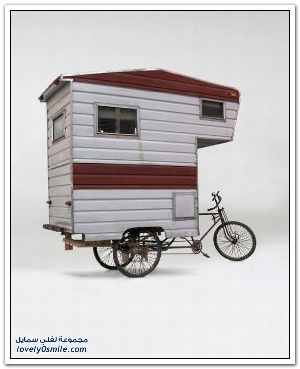 منزل على دراجة هوائية
