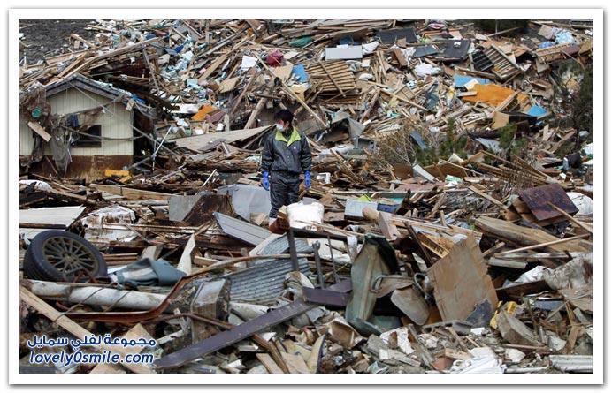 اليابان بعد شهر من الكارثة