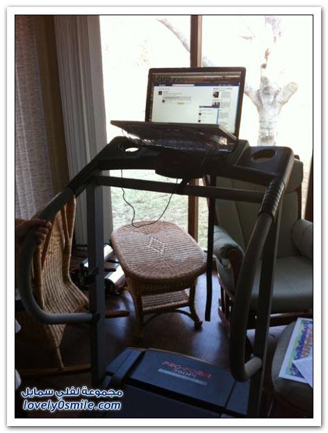 الرياضة أثناء استخدام الكمبيوتر
