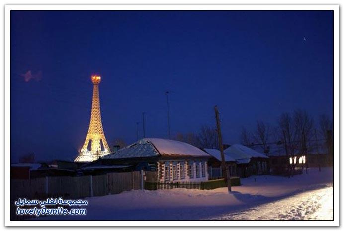 برج إيفل في أحد مدن روسيا