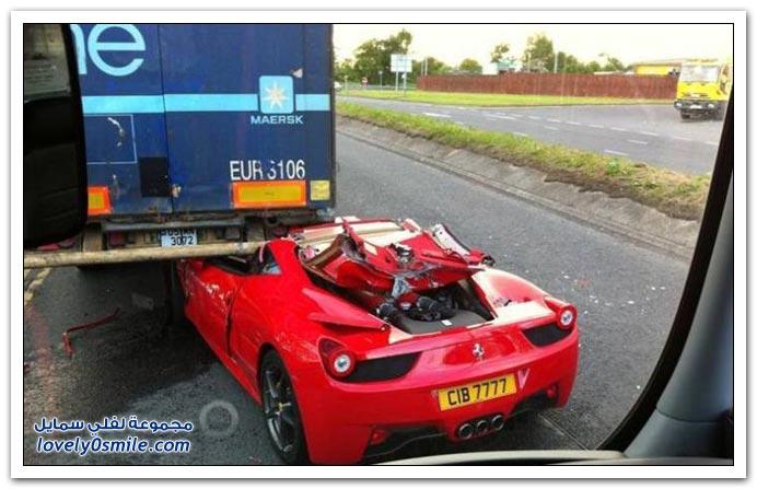 حادث فراري بشاحنة نقل بضائع