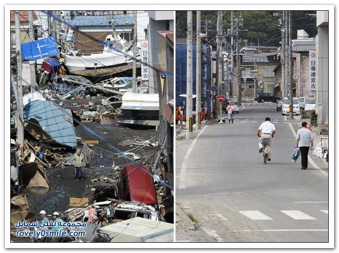 اليابان بعد ثلاث شهور من التسونامي