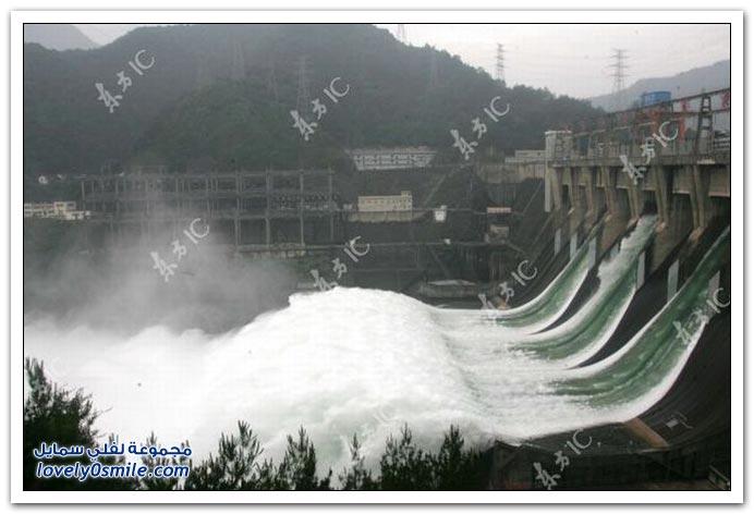 صور من افتتاح سد تصريف المياه في الصين