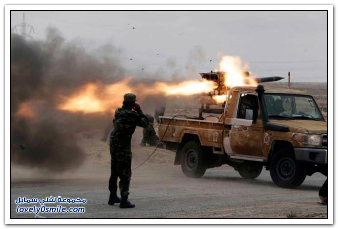 الثوار الليبيين وابتكارهم للأسلحة