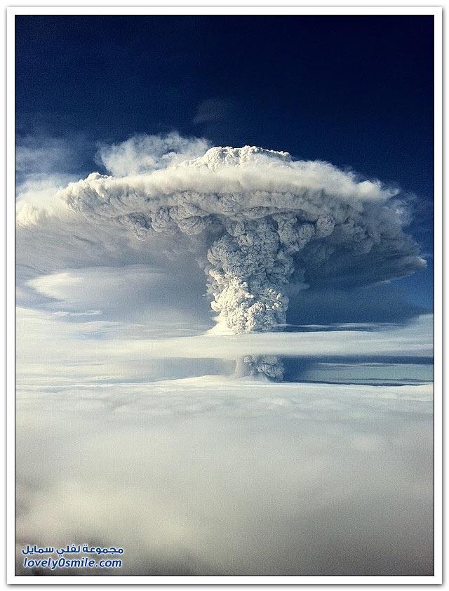 ثوران البركان الخامد في تشيلي