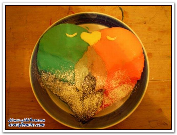الكيك أشكال وألوان