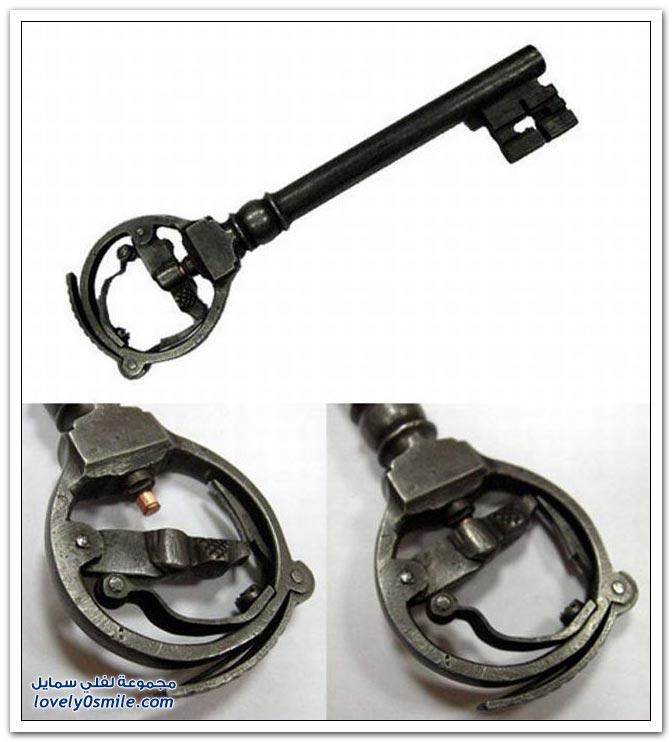 مفاتيح قديمة في مسدسات
