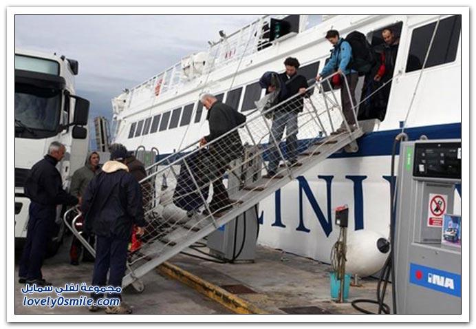 سفينة تصطدم بجزيرة بسبب قبطان سكران