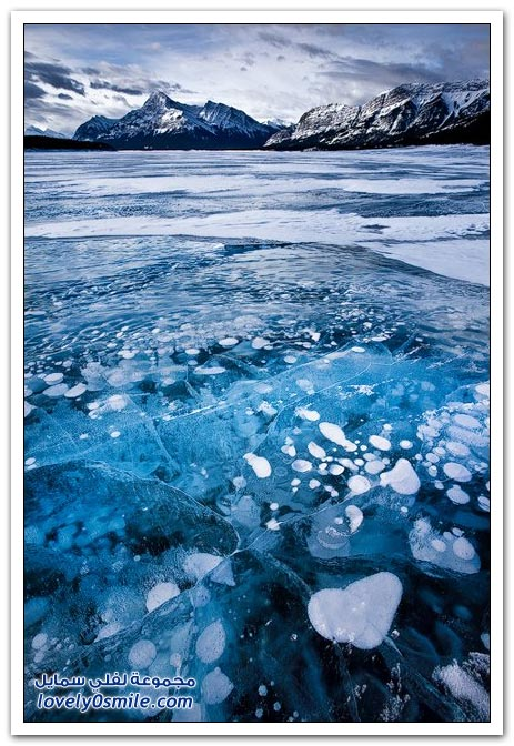 صور لبحيرة متجمدة في كندا