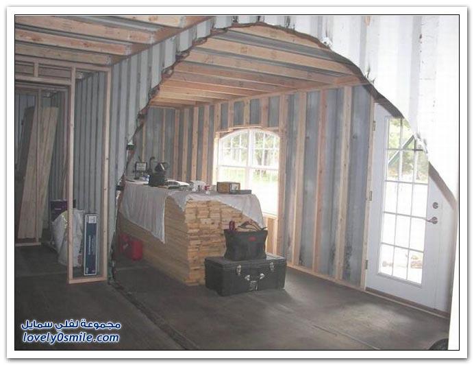 منزل يبنى من حاويات الشحن