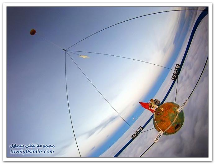 إطلاق طائرة مصنوعة يدوياً إلى الفضاء
